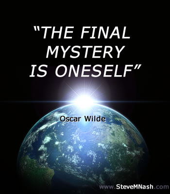 Oscar Wilde quote: The final mystery is oneself